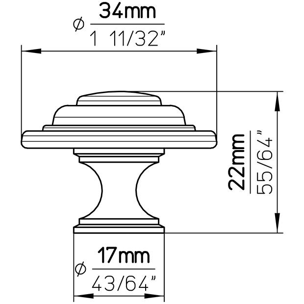 Möbelknopf 397-35MS3