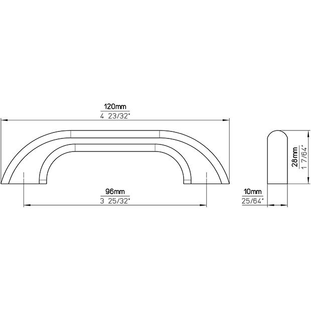 Möbelgriff S120-120HZ17