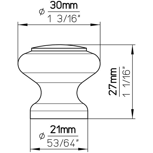 Möbelknopf S70-30HZ2