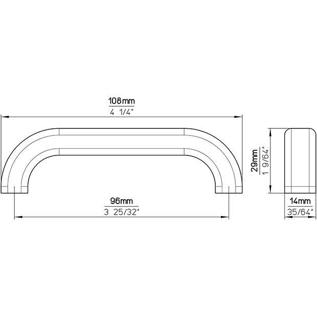 Möbelgriff S301-107HZ34