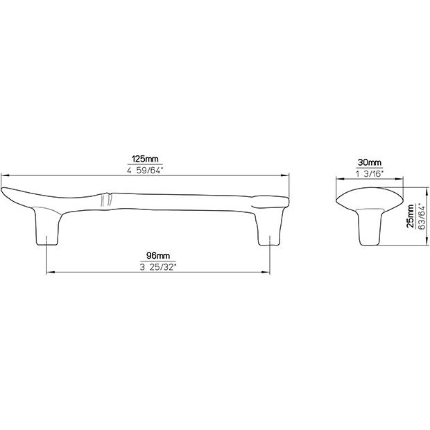 Möbelgriff 1052-126ZN24