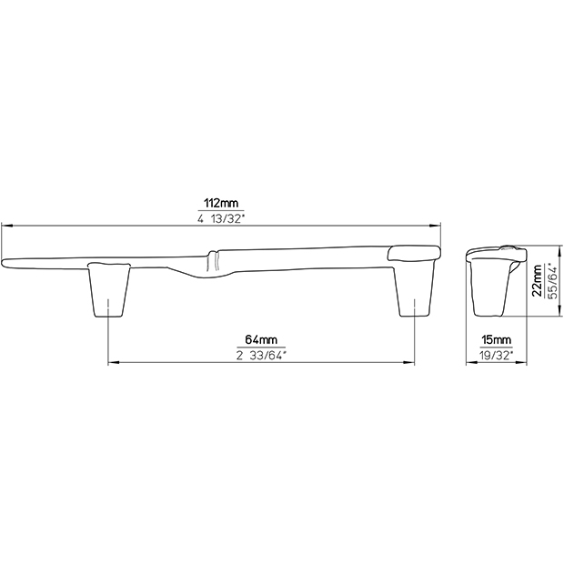 Möbelgriff 1053-113ZN24