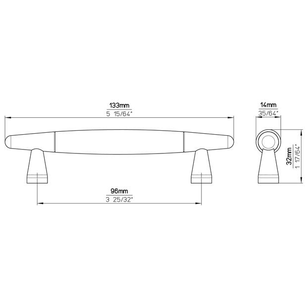 Möbelgriff S351-133HZ34ZN2
