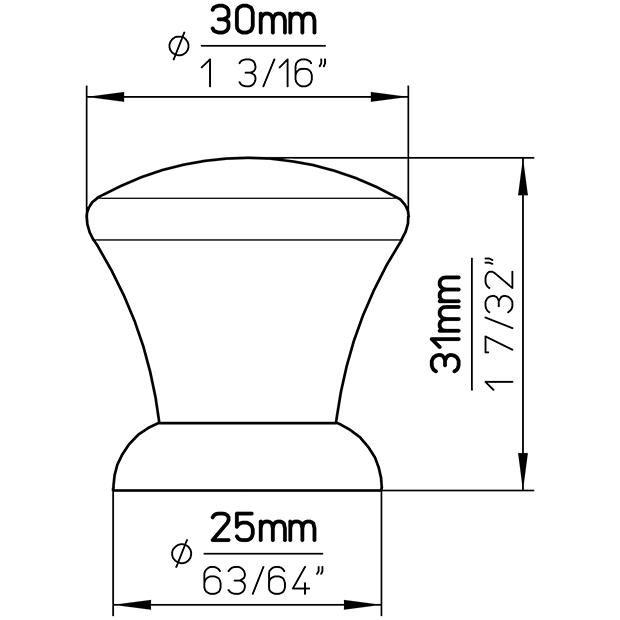 Möbelknopf S358-30HZ17