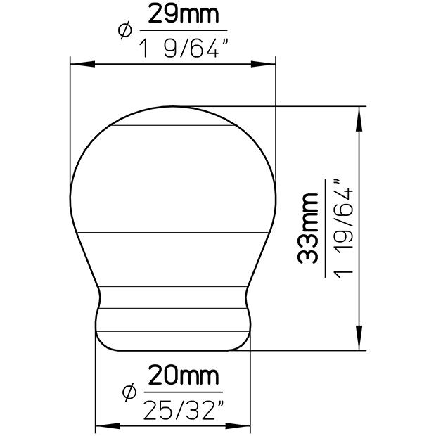 Möbelknopf SP54-27PF11