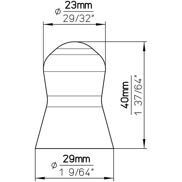 Möbelknopf SP57-28PF14