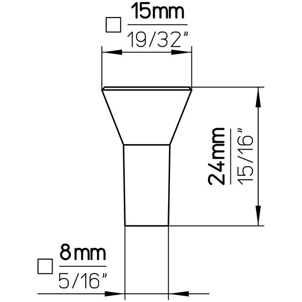 Möbelknopf 1583-16ZN5