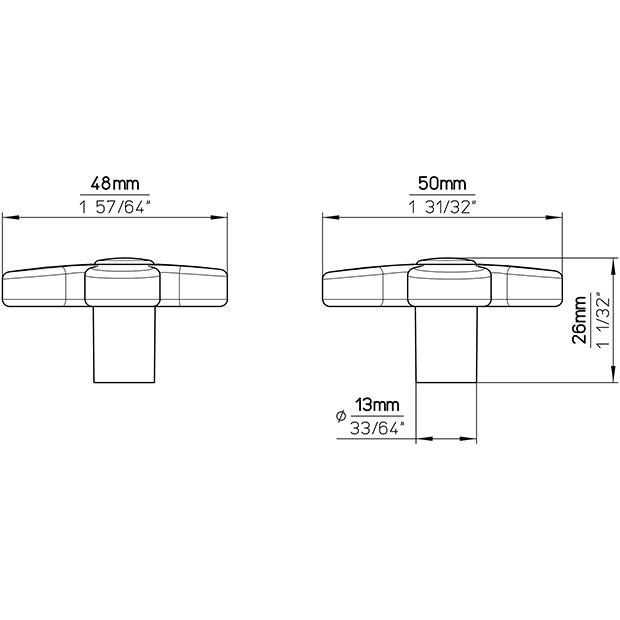 Möbelknopf SM8116I-50SN15MV11
