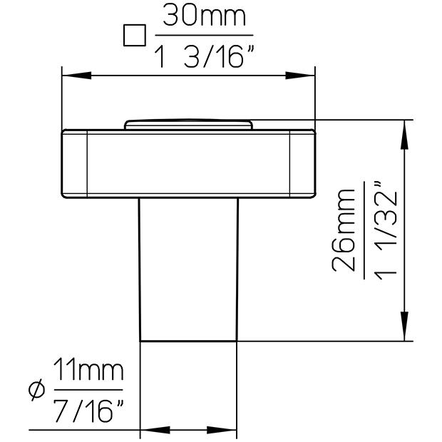 Möbelknopf SM8118I-30SN19MV11
