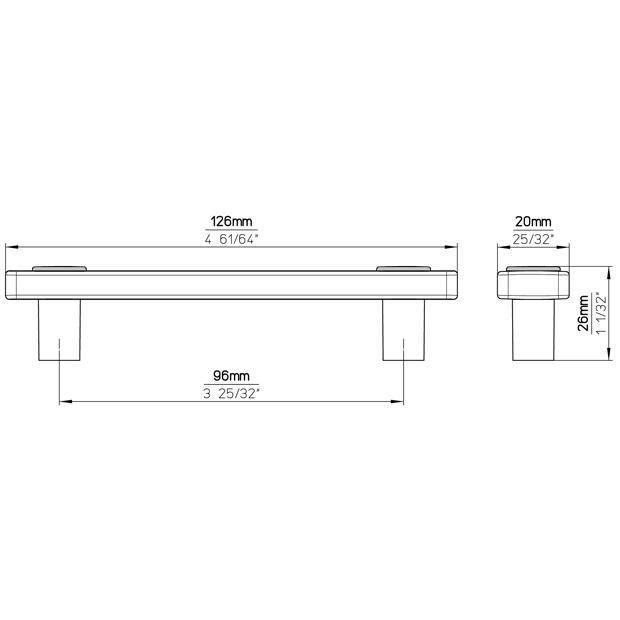 Möbelgriff SM8119I-126SN1MV11