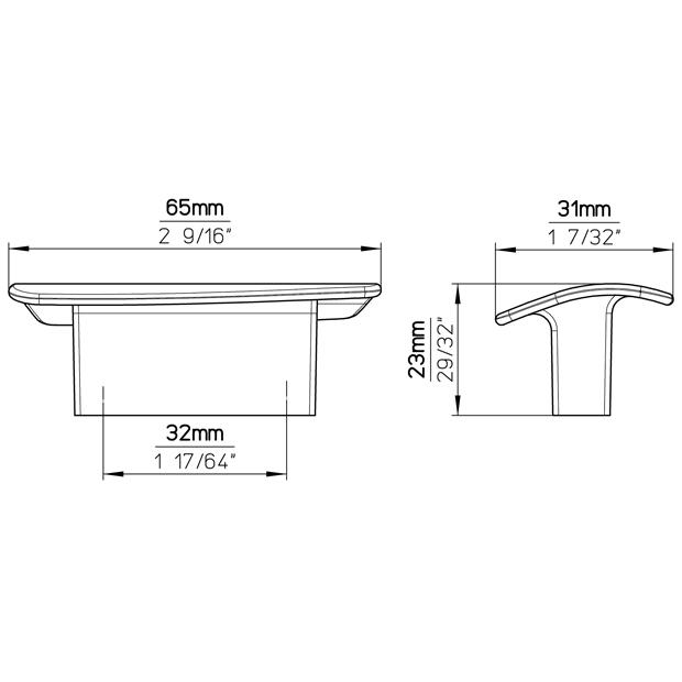 Möbelgriff 2093-65PB21