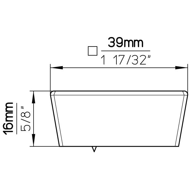 Möbelknopf 2100-39PB21A3