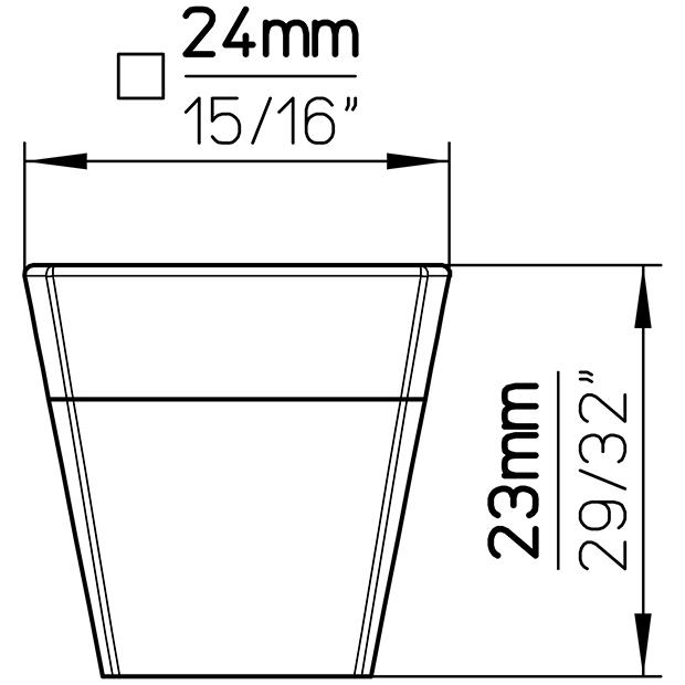Möbelknopf SM8194I-24MT1SN1