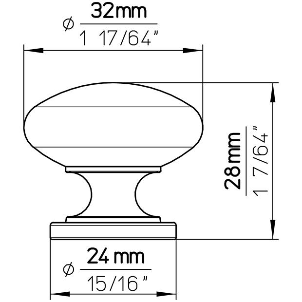 Möbelknopf 1533-33ZN1