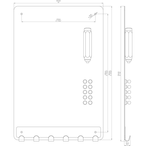 Kreidetafel mit Hakenleiste 2431-254FE13ZN1V1KF