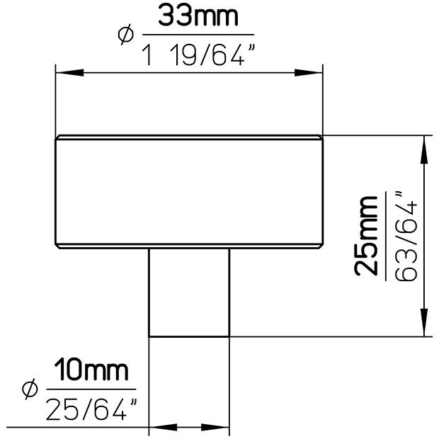 Möbelknopf 2508-33PB12