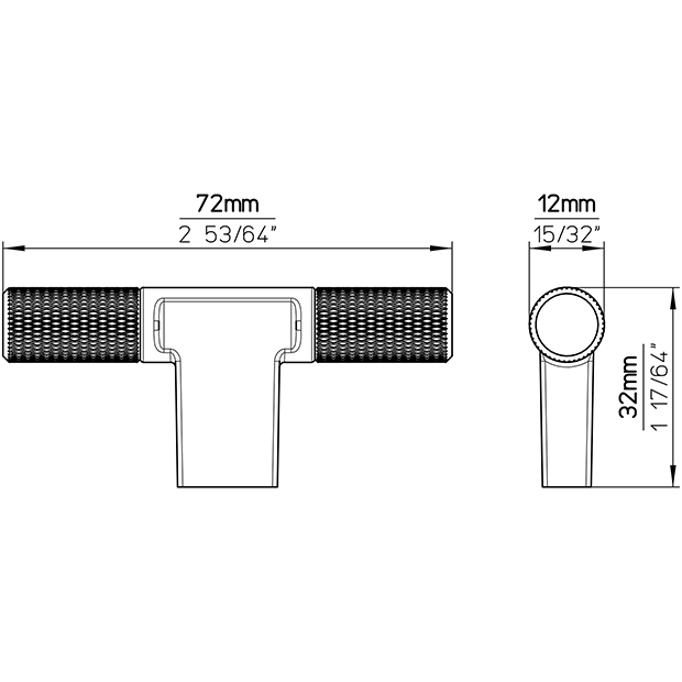 Möbelknopf 2509-72PB12