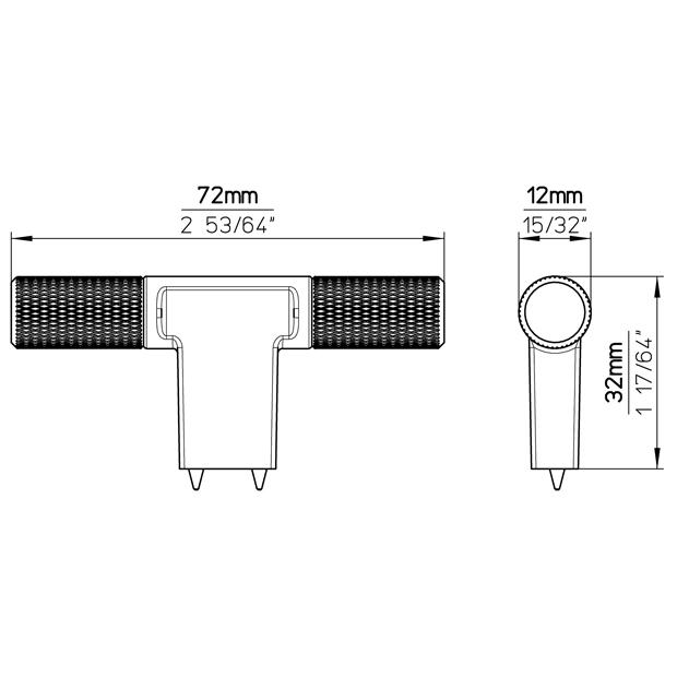 Möbelknopf 2509-72ZN27