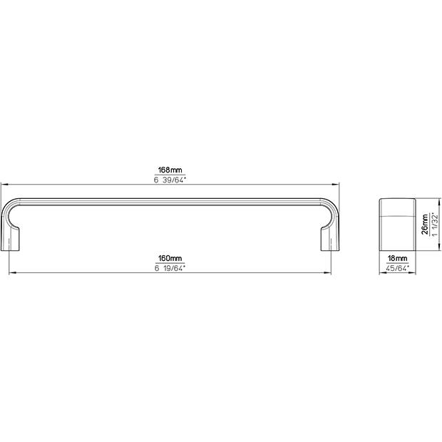 Möbelgriff 2512-168PB12