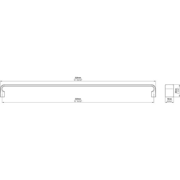 Möbelgriff 2512-328PB12